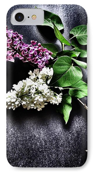 White And Purple Lilacs IPhone Case by Marianna Mills