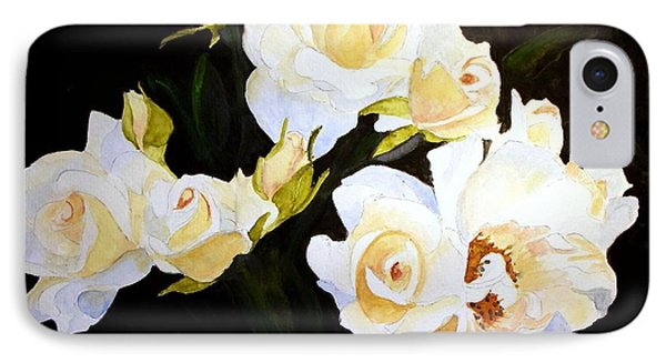 White And Yellow Roses IPhone Case by Carol Grimes