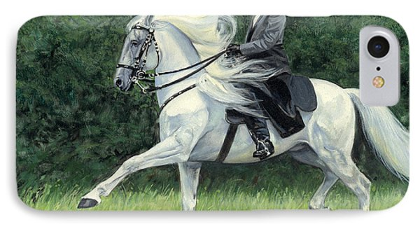White Andalusia Flowing Mane IPhone Case