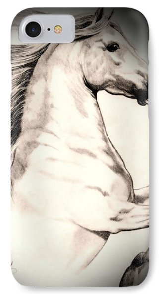 White Andalusian In Vinette IPhone Case by Cheryl Poland
