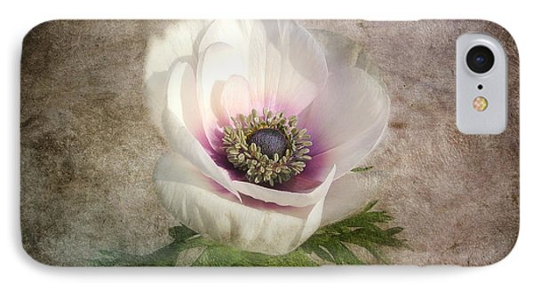IPhone Case featuring the photograph White Anemone by Barbara Orenya