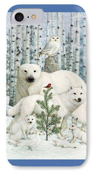 Finch iPhone 7 Case - White Animals Red Bird by Lynn Bywaters
