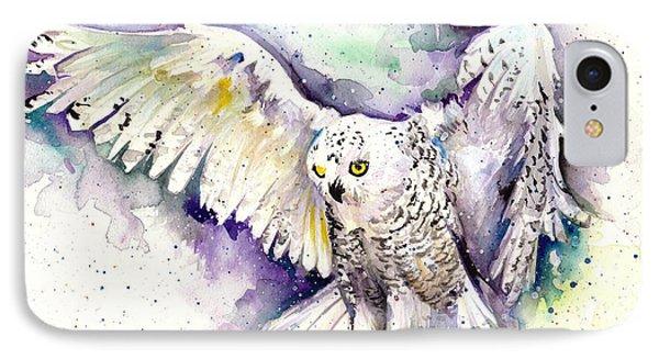 White Arctic Polar Owl - Wizard Dynamic White Owl IPhone Case by Tiberiu Soos