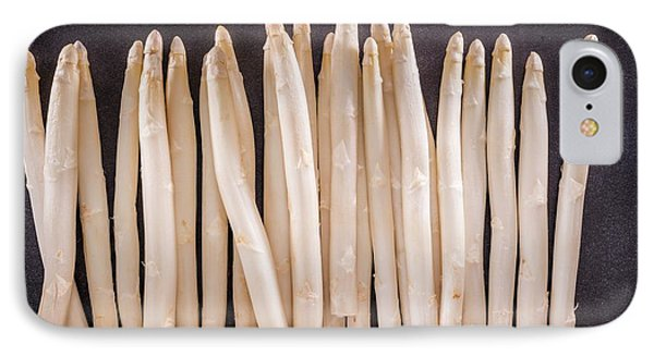 White Asparagus IPhone Case by Aberration Films Ltd
