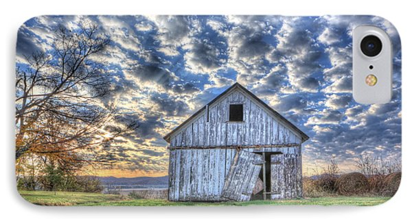 IPhone Case featuring the photograph White Barn At Sunrise by Jaki Miller
