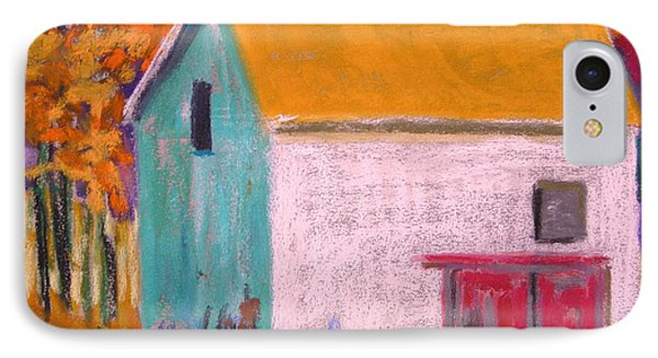 IPhone Case featuring the painting White Barn by John Williams