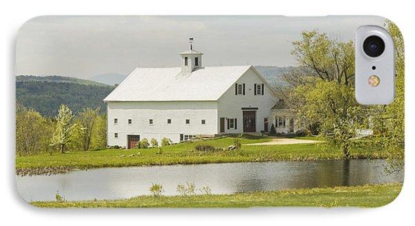 White Barn On Farm In Maine Fine Art Prints IPhone Case