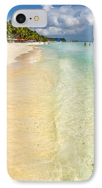 White Beach Boracay IPhone Case by Adrian Evans
