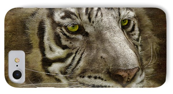 White Bengal Phone Case by Lois Bryan