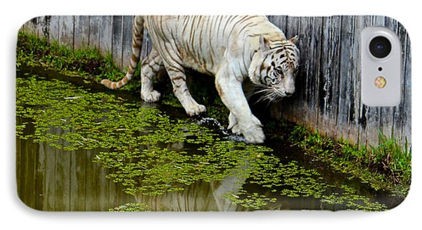 White Bengal Tiger IPhone Case by Venetia Featherstone-Witty