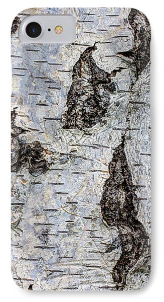 White Birch Abstract  Phone Case by Heidi Smith