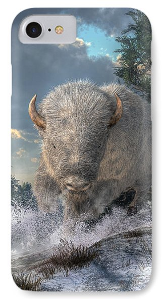 White Bison IPhone Case by Daniel Eskridge