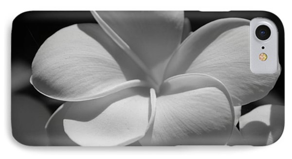 White Bloom B W IPhone Case