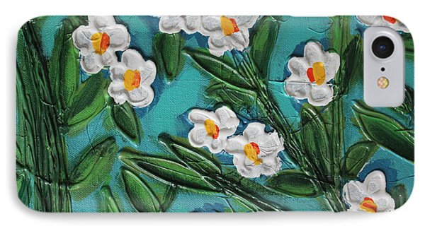 White Blooms 2 IPhone Case