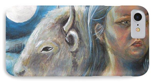 White Buffalo Portrait IPhone Case by Samantha Geernaert