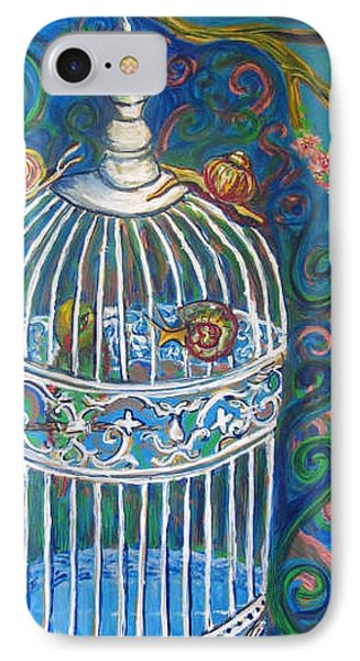 White Cage Phone Case by Cherie Sexsmith