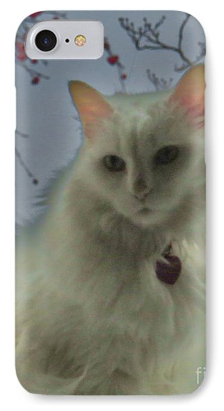 White Cat Dreams IPhone Case by Judy Via-Wolff