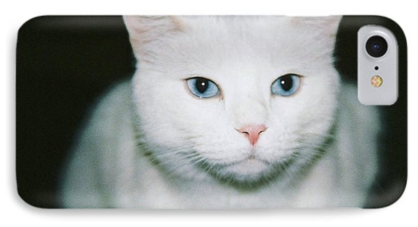 White Cat IPhone Case by Ellen O'Reilly