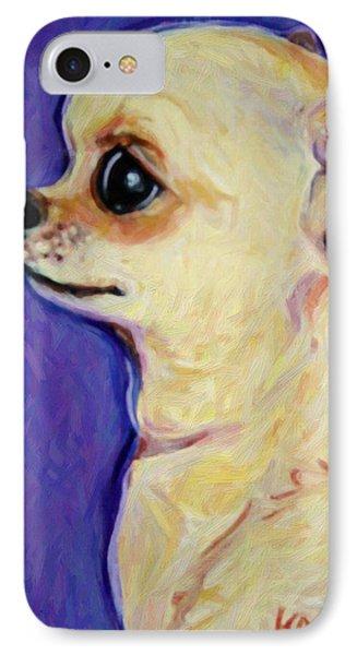 White Chihuahua - Sweet Pea IPhone Case by Rebecca Korpita