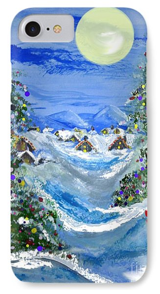 White Christmas At The North Pole IPhone Case by Lori  Lovetere