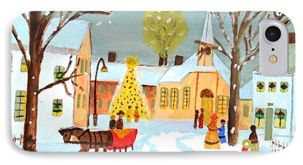 IPhone Case featuring the painting White Christmas by Magdalena Frohnsdorff
