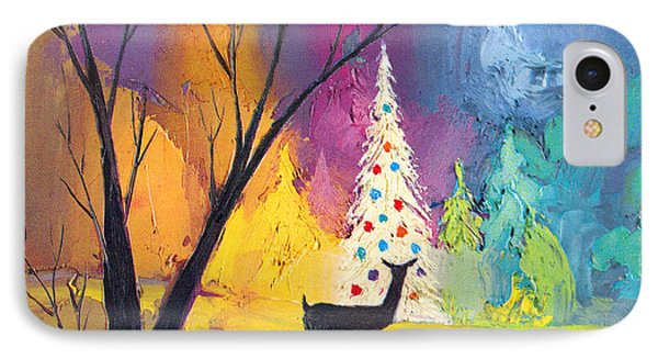 White Christmas Tree IPhone Case