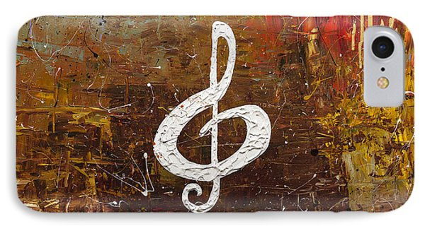 White Clef IPhone Case by Carmen Guedez