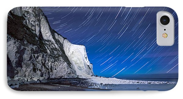 White Cliffs Of Dover On A Starry Night IPhone Case by Ian Hufton
