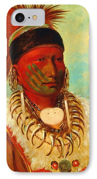 White Cloud - Chief Of The Iowas IPhone Case by Pg Reproductions