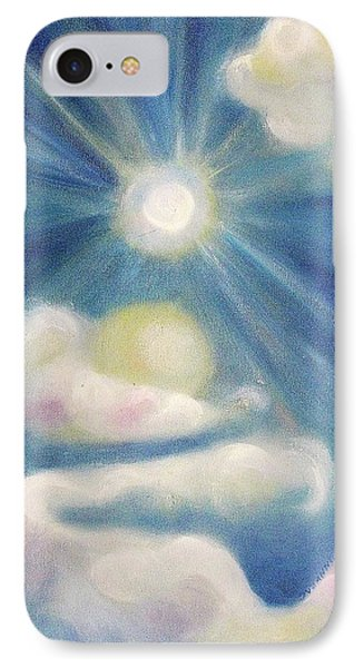 White Clouds And Sun IPhone Case by Suzanne  Marie Leclair