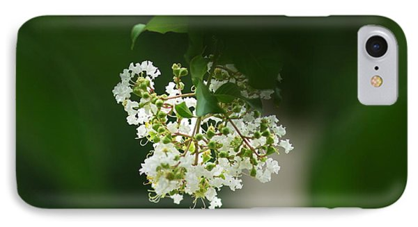 IPhone Case featuring the photograph White Crepe Myrtle Blossom by Suzanne Powers