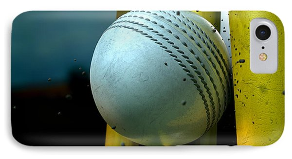 White Cricket Ball And Wickets IPhone Case