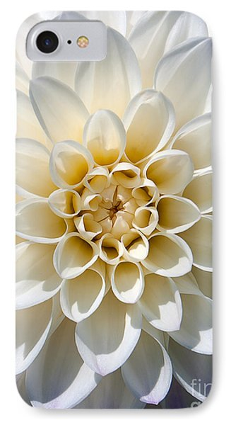 IPhone Case featuring the photograph White Dahlia by Carsten Reisinger