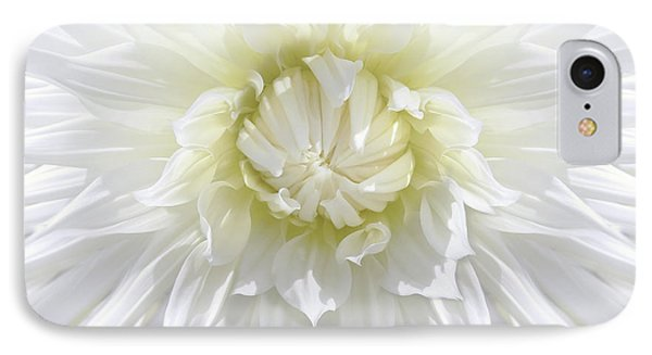 White Dahlia Floral Delight Phone Case by Jennie Marie Schell