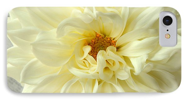 IPhone Case featuring the photograph White Dahlia by Olivia Hardwicke
