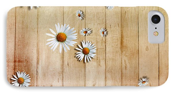 White Daisies Phone Case by David Ridley