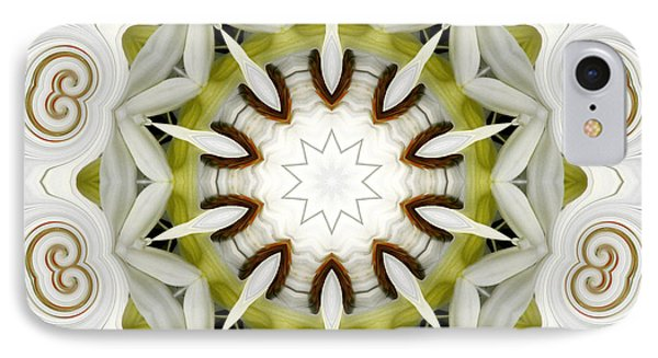White Daisies Kaleidoscope IPhone Case by Rose Santuci-Sofranko