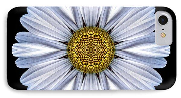 White Daisy Flower Mandala IPhone Case