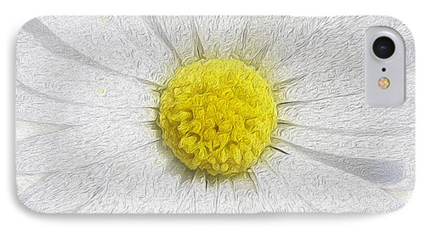 White Daisy On White Phone Case by Jon Neidert