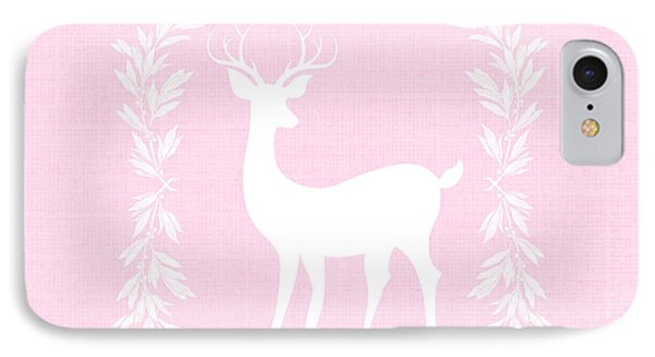 White Deer IPhone Case by Chastity Hoff
