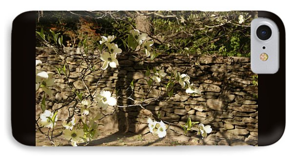 IPhone Case featuring the photograph White Dogwood At The Stone Wall by Margie Avellino
