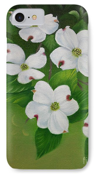 IPhone Case featuring the painting White Dogwoods by Jimmie Bartlett
