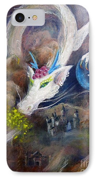 IPhone Case featuring the painting White Dragon by Jieming Wang