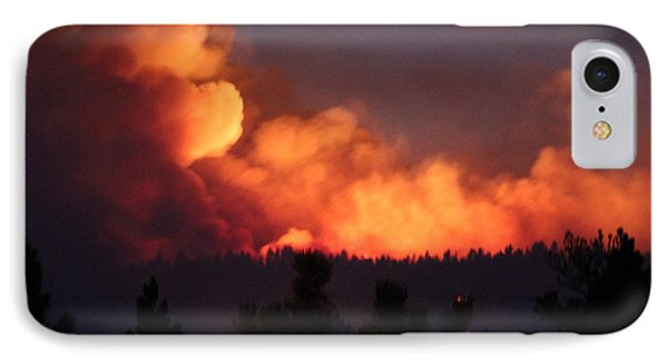 IPhone Case featuring the photograph White Draw Fire First Night by Bill Gabbert