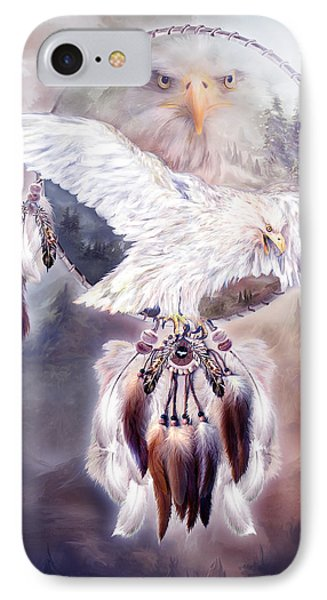 White Eagle Dreams 2 Phone Case by Carol Cavalaris