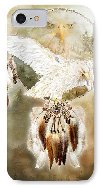 White Eagle Dreams Phone Case by Carol Cavalaris
