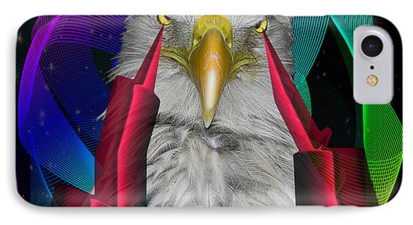 white Eagle face IPhone Case