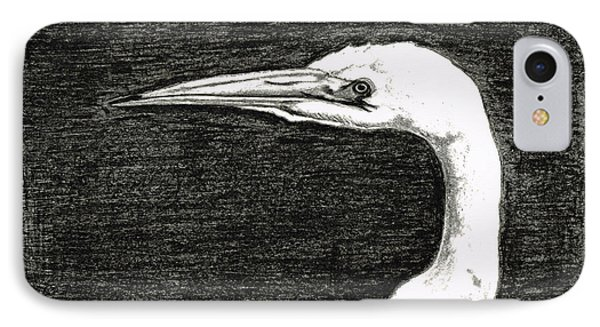 White Egret Art - The Great One - By Sharon Cummings IPhone Case by Sharon Cummings