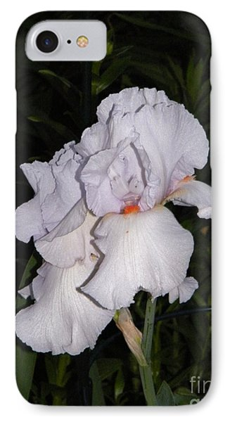 White Flower At Night IPhone Case