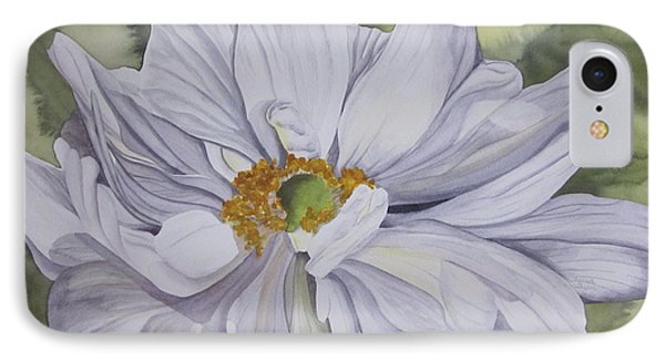 White Flower Companion IPhone Case